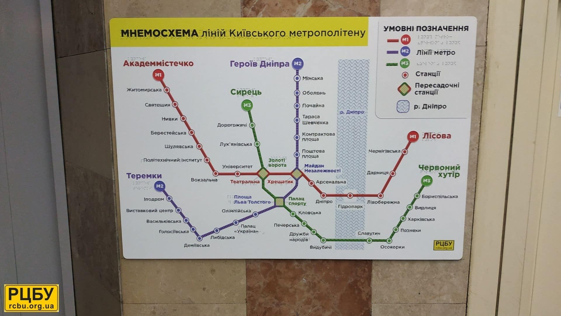 Мнемосхема метро Святошино_РЦБУ